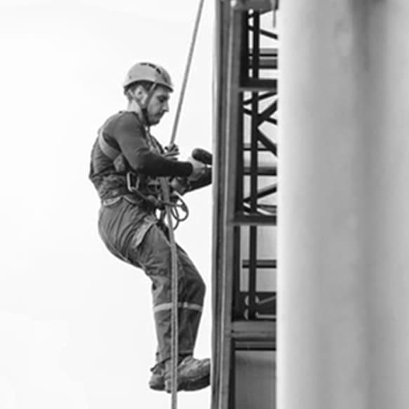 Parte práctica del curso de trabajos en altura - VERTIPROTECT | Soluciones en altura