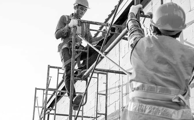 Montaje de una torre de trabajo móvil