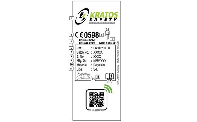 Arnés anticaídas Kratos Safety FA1020500A